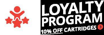 Loyalty Program 10% off Cartridges